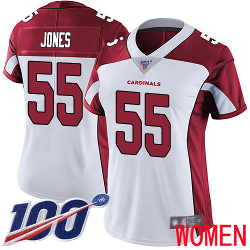 Arizona Cardinals Limited White Women Chandler Jones Road Jersey NFL Football 55 100th Season Vapor Untouchable
