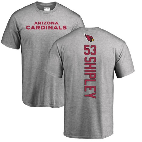 Arizona Cardinals Men Ash A.Q. Shipley Backer NFL Football 53 T Shirt