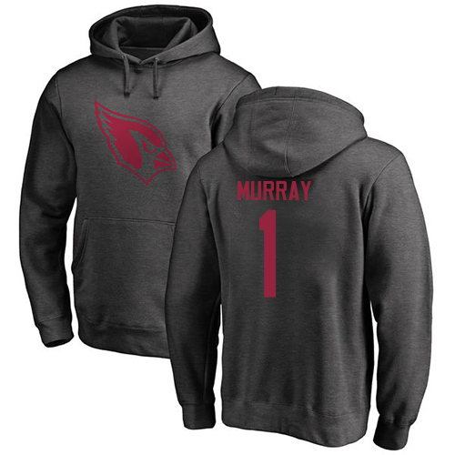 Arizona Cardinals Men Ash Kyler Murray One Color NFL Football 1 Pullover Hoodie Sweatshirts