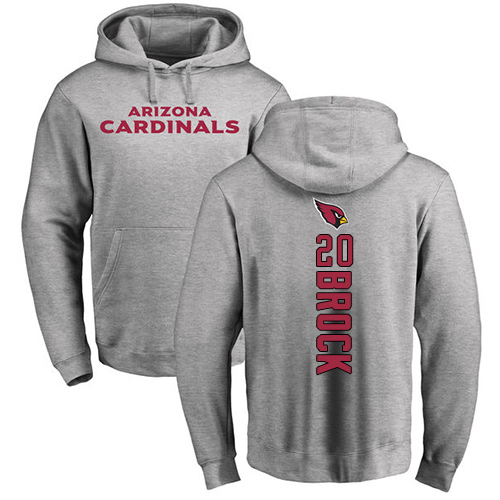 Arizona Cardinals Men Ash Tramaine Brock Backer NFL Football 20 Pullover Hoodie Sweatshirts