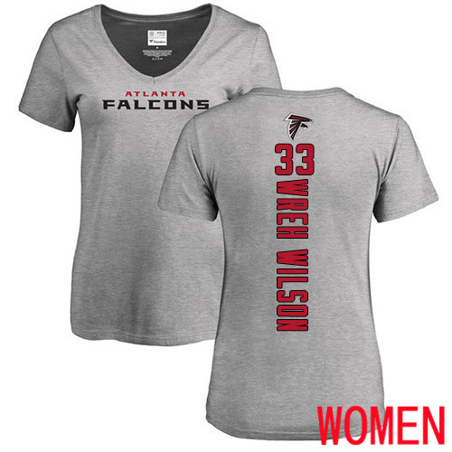 Atlanta Falcons Ash Women Blidi Wreh-Wilson Backer NFL Football 33 T Shirt