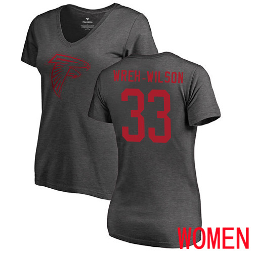 Atlanta Falcons Ash Women Blidi Wreh-Wilson One Color NFL Football 33 T Shirt