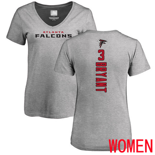 Atlanta Falcons Ash Women Matt Bryant Backer NFL Football 3 T Shirt