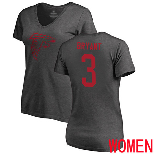 Atlanta Falcons Ash Women Matt Bryant One Color NFL Football 3 T Shirt