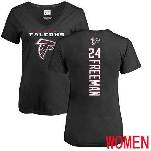 Atlanta Falcons Black Women Devonta Freeman Backer NFL Football 24 T Shirt
