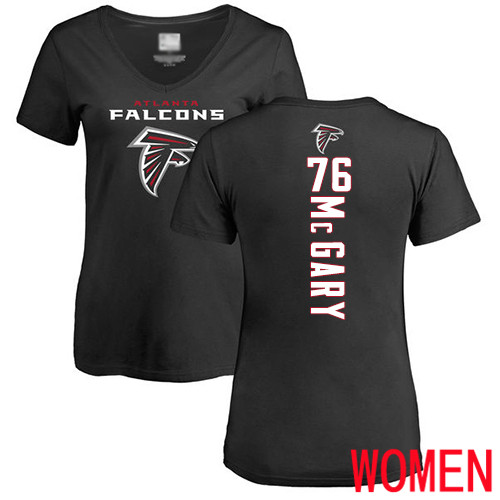 Atlanta Falcons Black Women Kaleb McGary Backer NFL Football 76 T Shirt