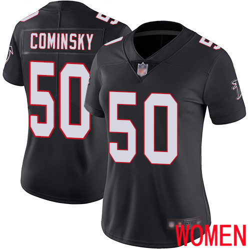 Atlanta Falcons Limited Black Women John Cominsky Alternate Jersey NFL Football 50 Vapor Untouchable