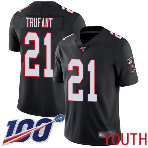 Atlanta Falcons Limited Black Youth Desmond Trufant Alternate Jersey NFL Football 21 100th Season Vapor Untouchable