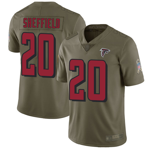 Atlanta Falcons Limited Olive Men Kendall Sheffield Jersey NFL Football 20 2017 Salute to Service