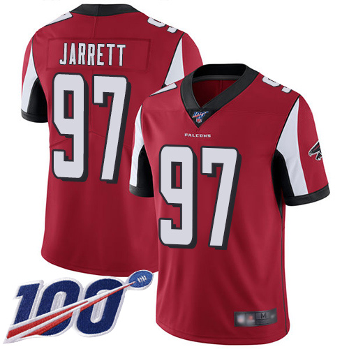 Atlanta Falcons Limited Red Men Grady Jarrett Home Jersey NFL Football 97 100th Season Vapor Untouchable