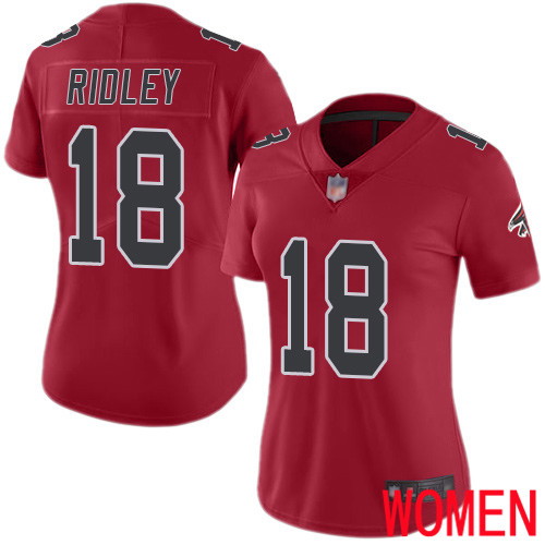 Atlanta Falcons Limited Red Women Calvin Ridley Jersey NFL Football 18 Rush Vapor Untouchable