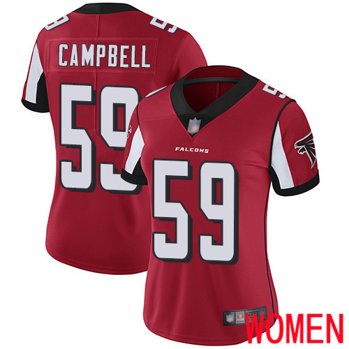 Atlanta Falcons Limited Red Women De Vondre Campbell Home Jersey NFL Football 59 Vapor Untouchable