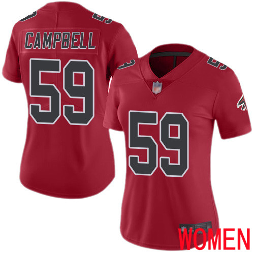 Atlanta Falcons Limited Red Women De Vondre Campbell Jersey NFL Football 59 Rush Vapor Untouchable