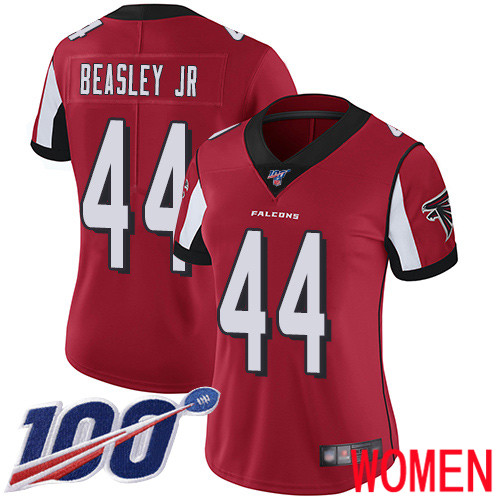 Atlanta Falcons Limited Red Women Vic Beasley Home Jersey NFL Football 44 100th Season Vapor Untouchable