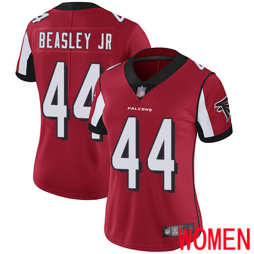 Atlanta Falcons Limited Red Women Vic Beasley Home Jersey NFL Football 44 Vapor Untouchable