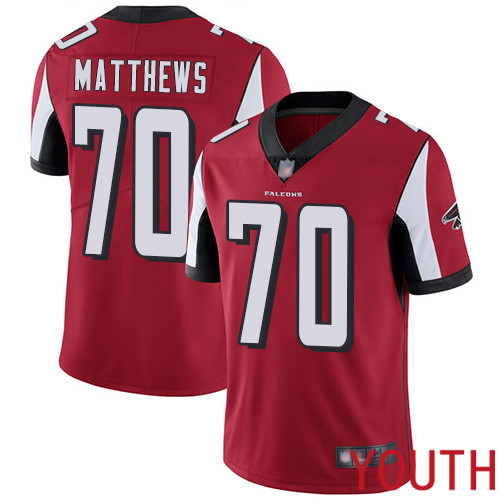 Atlanta Falcons Limited Red Youth Jake Matthews Home Jersey NFL Football 70 Vapor Untouchable