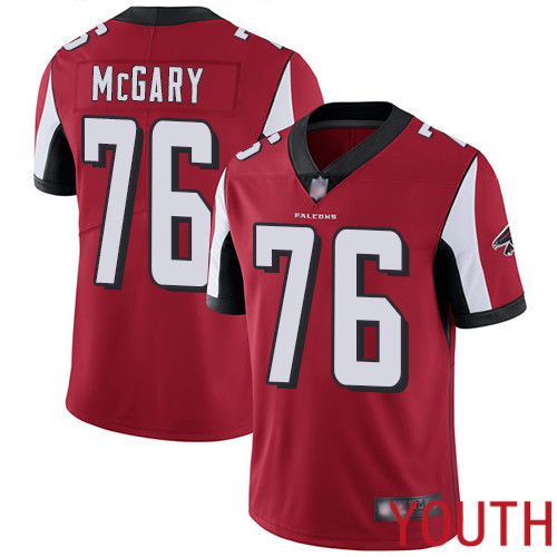 Atlanta Falcons Limited Red Youth Kaleb McGary Home Jersey NFL Football 76 Vapor Untouchable