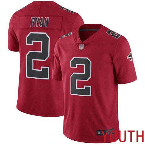 Atlanta Falcons Limited Red Youth Matt Ryan Jersey NFL Football 2 Rush Vapor Untouchable