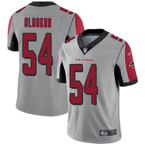 Atlanta Falcons Limited Silver Men Foye Oluokun Jersey NFL Football 54 Inverted Legend