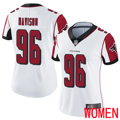 Atlanta Falcons Limited White Women Tyeler Davison Road Jersey NFL Football 96 Vapor Untouchable