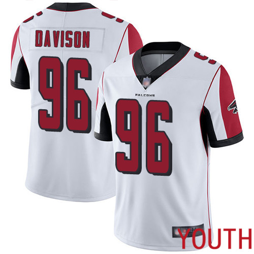 Atlanta Falcons Limited White Youth Tyeler Davison Road Jersey NFL Football 96 Vapor Untouchable