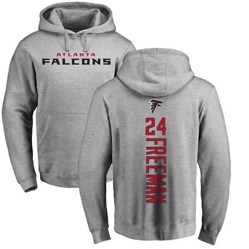 Atlanta Falcons Men Ash Devonta Freeman Backer NFL Football 24 Pullover Hoodie Sweatshirts
