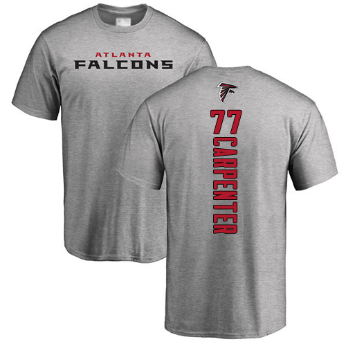 Atlanta Falcons Men Ash James Carpenter Backer NFL Football 77 T Shirt