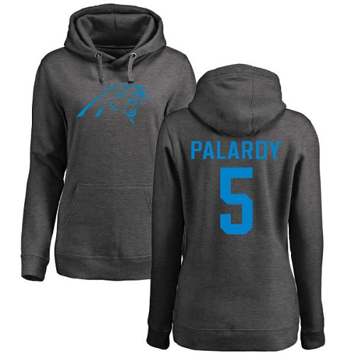 Carolina Panthers Ash Women Michael Palardy One Color NFL Football 5 Pullover Hoodie Sweatshirts