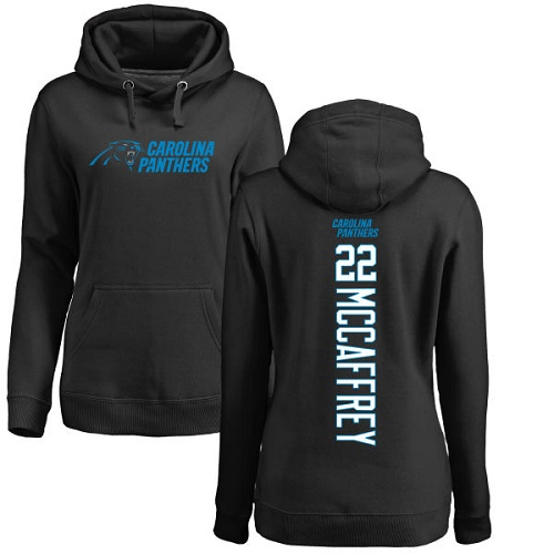 Carolina Panthers Black Women Christian McCaffrey Backer NFL Football 22 Pullover Hoodie Sweatshirts