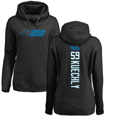 Carolina Panthers Black Women Luke Kuechly Backer NFL Football 59 Pullover Hoodie Sweatshirts