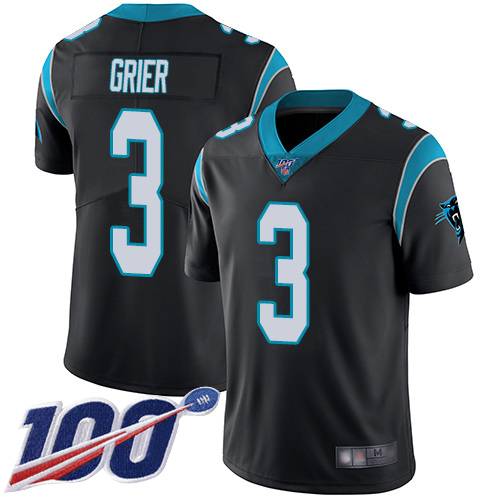 Carolina Panthers Limited Black Men Will Grier Home Jersey NFL Football 3 100th Season Vapor Untouchable