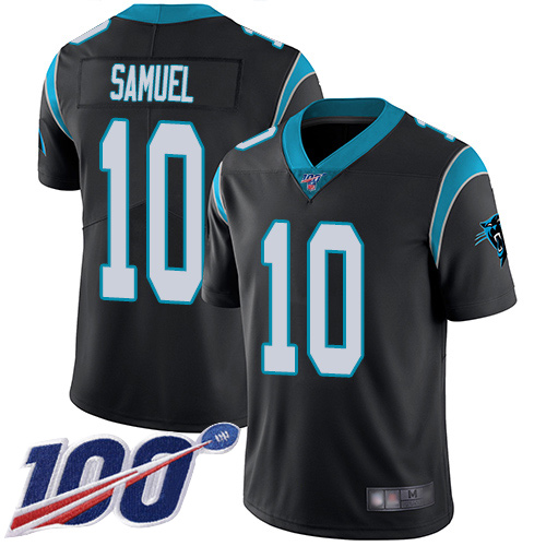 Carolina Panthers Limited Black Youth Curtis Samuel Home Jersey NFL Football 10 100th Season Vapor Untouchable