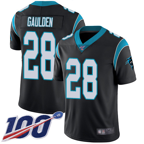 Carolina Panthers Limited Black Youth Rashaan Gaulden Home Jersey NFL Football 28 100th Season Vapor Untouchable