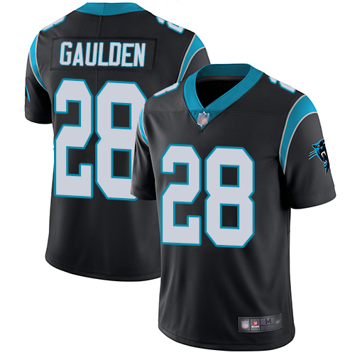 Carolina Panthers Limited Black Youth Rashaan Gaulden Home Jersey NFL Football 28 Vapor Untouchable