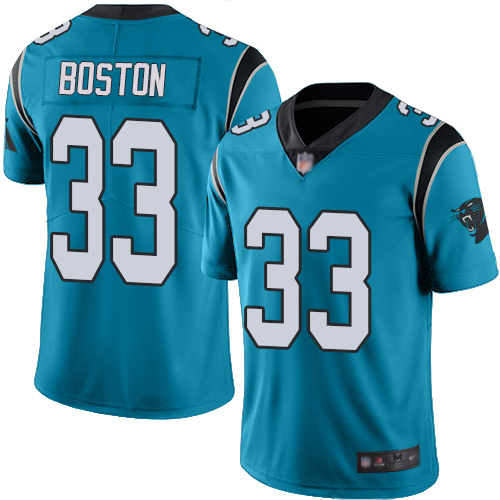 Carolina Panthers Limited Blue Men Tre Boston Jersey NFL Football 33 Rush Vapor Untouchable
