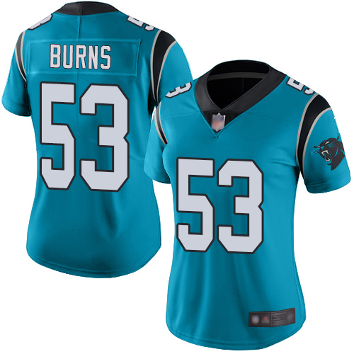 Carolina Panthers Limited Blue Women Brian Burns Alternate Jersey NFL Football 53 Vapor Untouchable