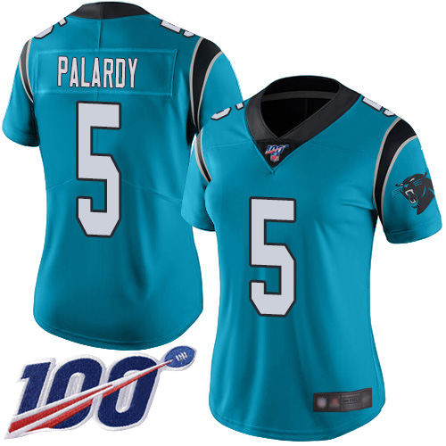 Carolina Panthers Limited Blue Women Michael Palardy Alternate Jersey NFL Football 5 100th Season Vapor Untouchable