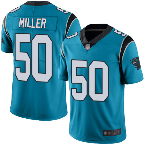 Carolina Panthers Limited Blue Youth Christian Miller Alternate Jersey NFL Football 50 Vapor Untouchable
