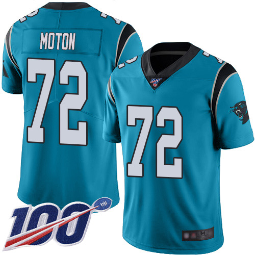 Carolina Panthers Limited Blue Youth Taylor Moton Alternate Jersey NFL Football 72 100th Season Vapor Untouchable