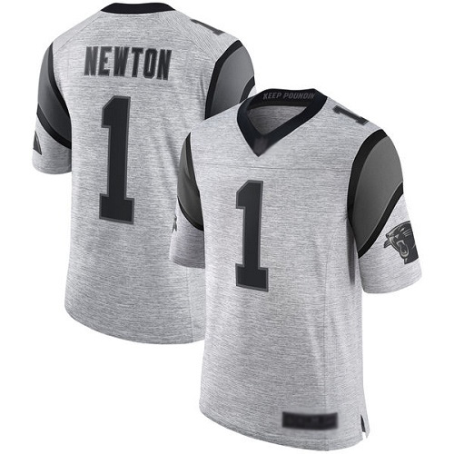 Carolina Panthers Limited Gray Men Cam Newton Jersey NFL Football 1 Gridiron II
