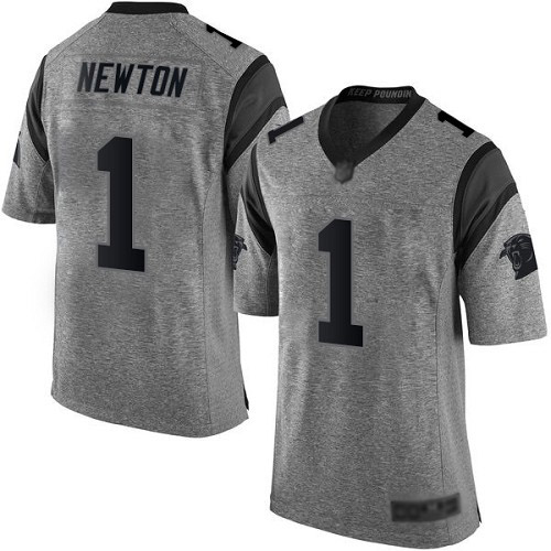 Carolina Panthers Limited Gray Men Cam Newton Jersey NFL Football 1 Gridiron