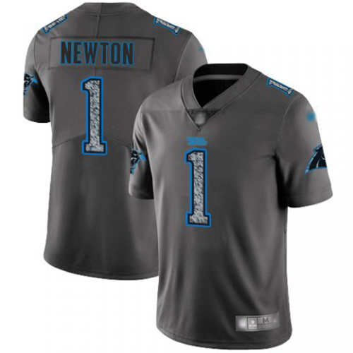 Carolina Panthers Limited Gray Men Cam Newton Jersey NFL Football 1 Static Fashion