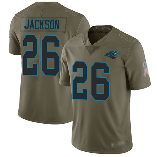 Carolina Panthers Limited Olive Youth Donte Jackson Jersey NFL Football 26 2017 Salute to Service