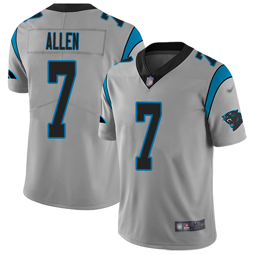 Carolina Panthers Limited Silver Men Kyle Allen Jersey NFL Football 7 Inverted Legend