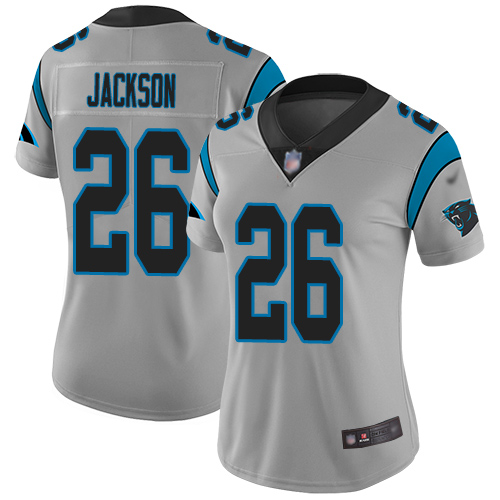 Carolina Panthers Limited Silver Women Donte Jackson Jersey NFL Football 26 Inverted Legend