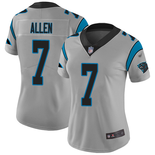 Carolina Panthers Limited Silver Women Kyle Allen Jersey NFL Football 7 Inverted Legend