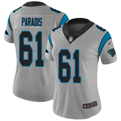 Carolina Panthers Limited Silver Women Matt Paradis Jersey NFL Football 61 Inverted Legend