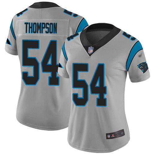 Carolina Panthers Limited Silver Women Shaq Thompson Jersey NFL Football 54 Inverted Legend