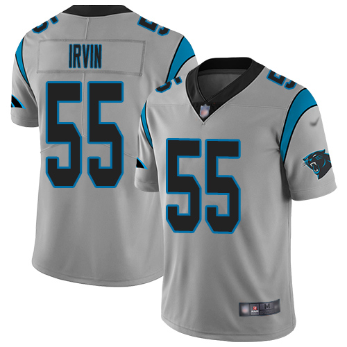 Carolina Panthers Limited Silver Youth Bruce Irvin Jersey NFL Football 55 Inverted Legend