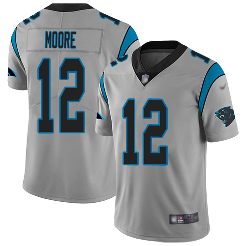 Carolina Panthers Limited Silver Youth DJ Moore Jersey NFL Football 12 Inverted Legend